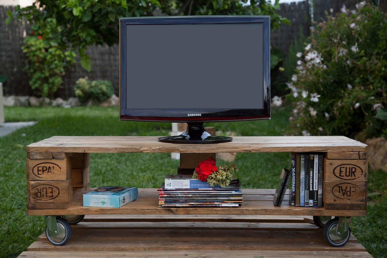 Mueble de tv matilda paletos - Cosas hechas con palets ...