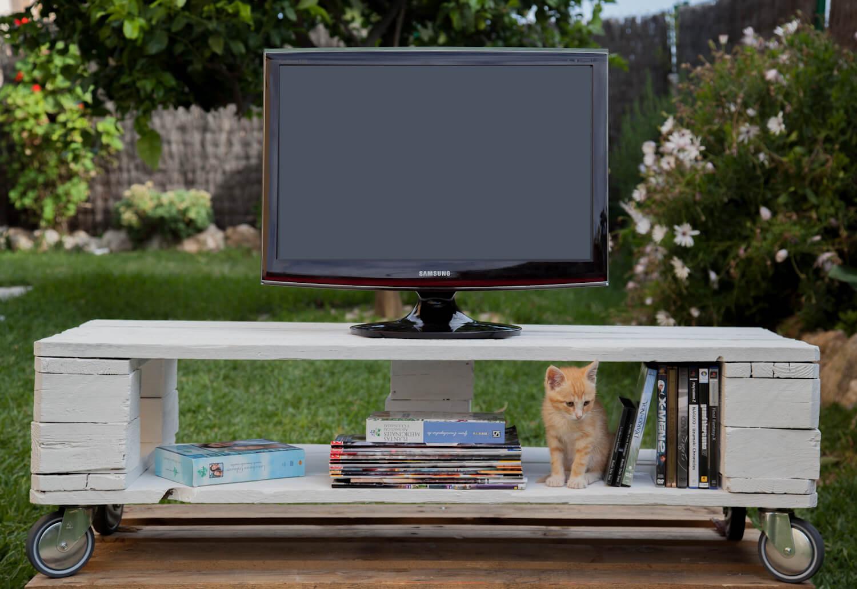 Mueble de tv matilda paletos - Muebles de palet reciclados ...