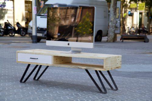 Muebles tv de palets para decorar tu sal n for Mueble salon palets