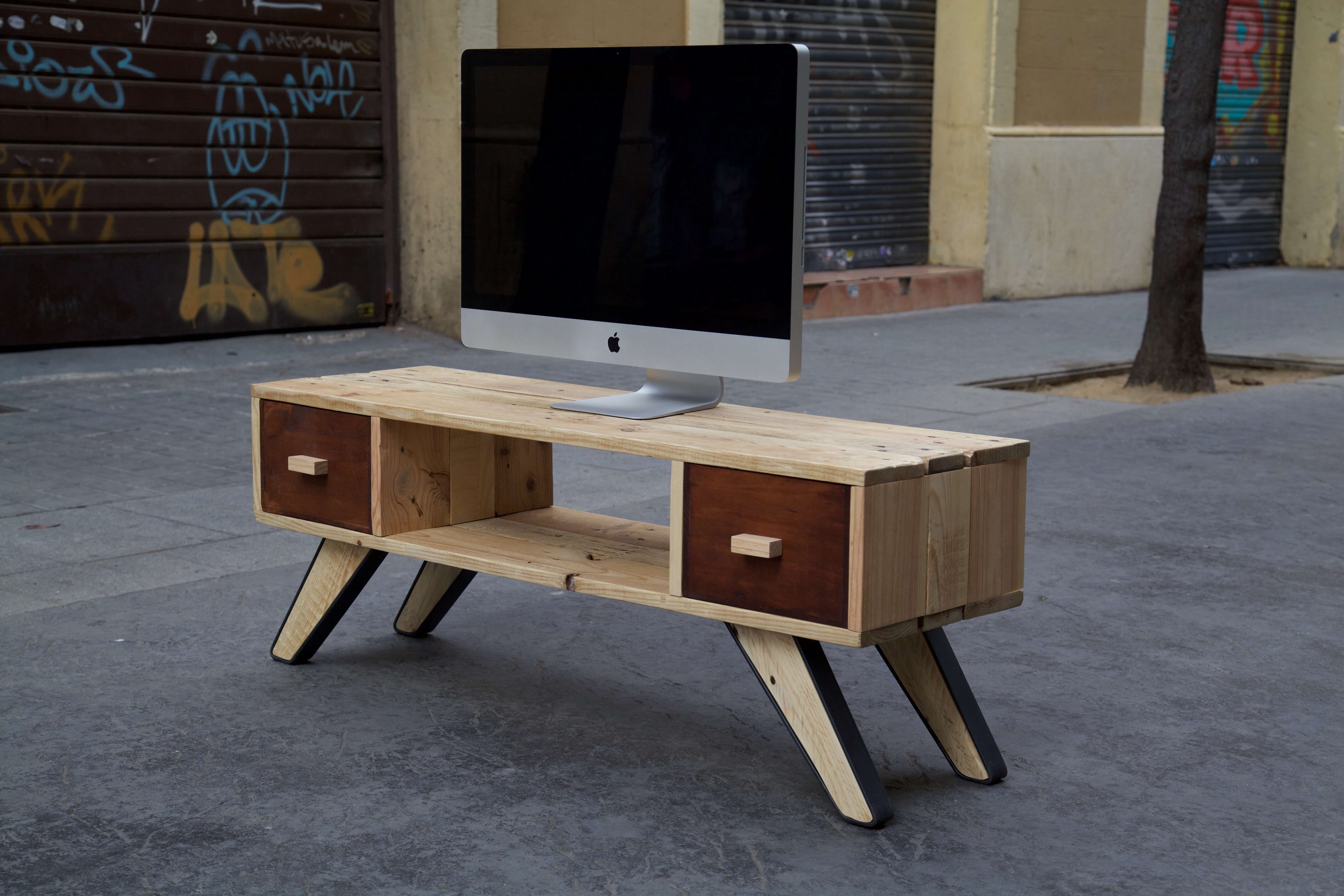 Mueble de tv don draper paletos - Muebles reciclados de palets ...