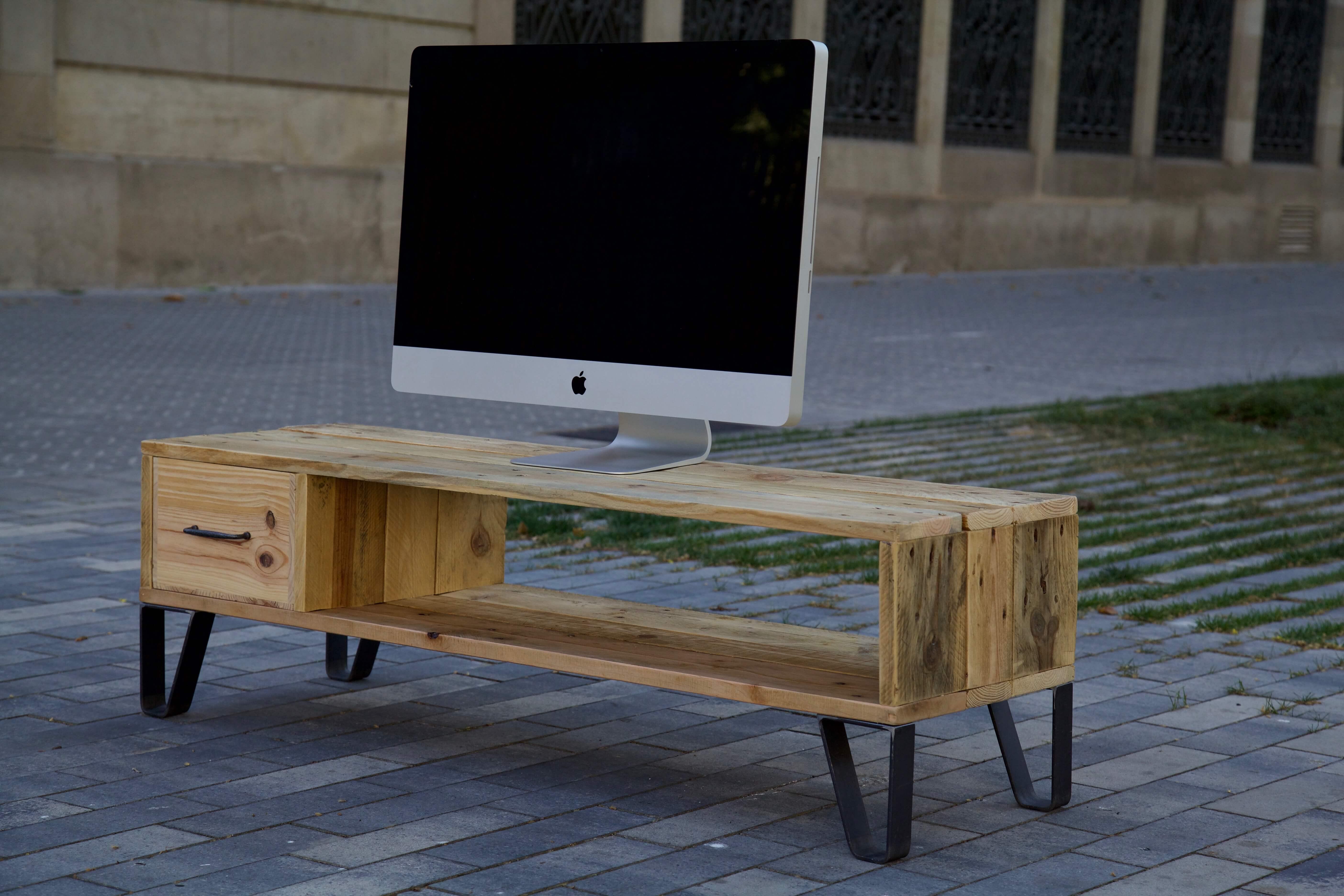 Mueble de tv ives paletos - Palet reciclado muebles ...