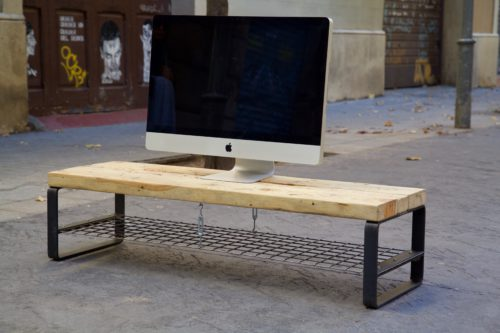 Muebles tv de palets para decorar tu sal n - Mueble salon palets ...