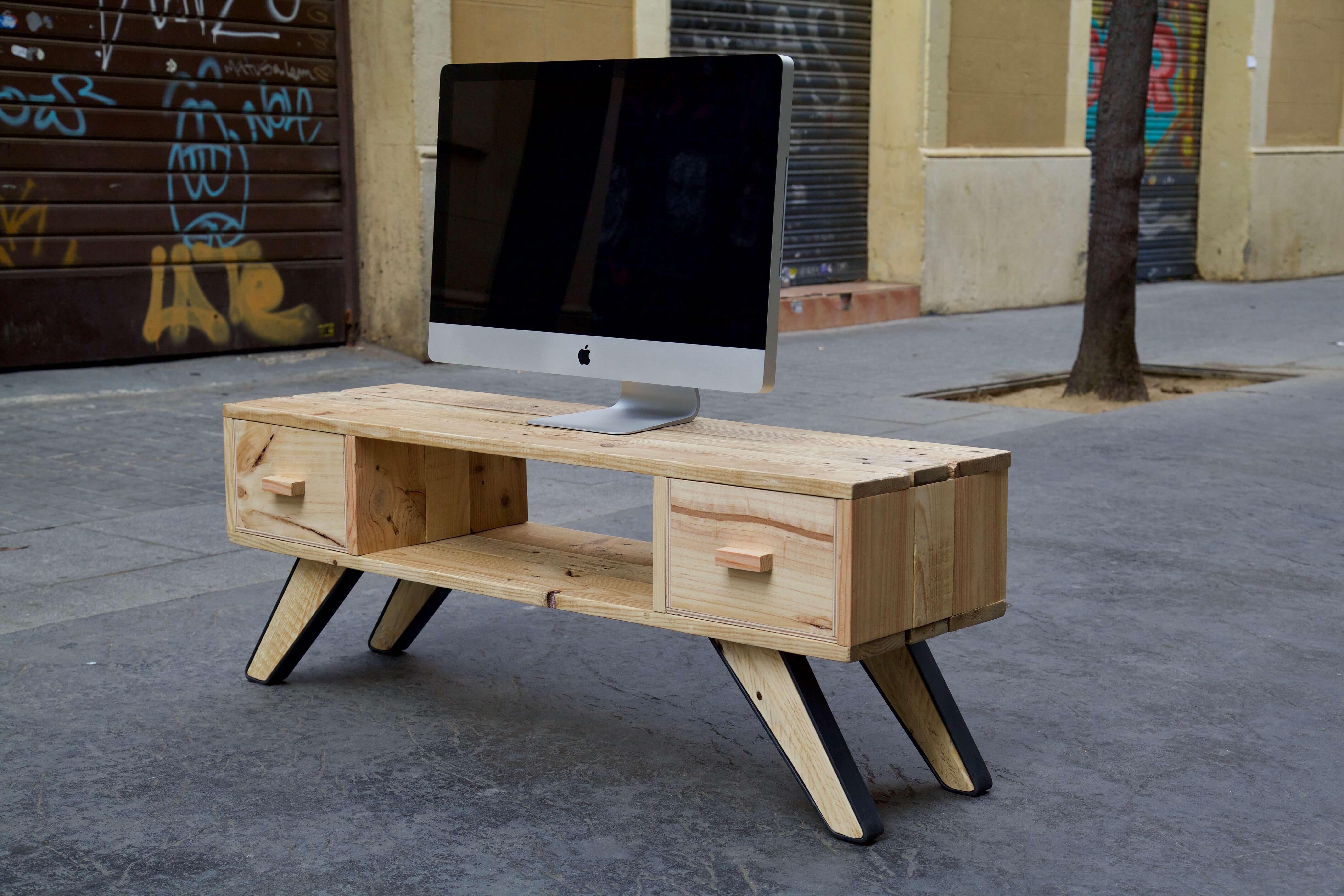 Mueble de tv marquis warren paletos - Muebles reciclados de palets ...