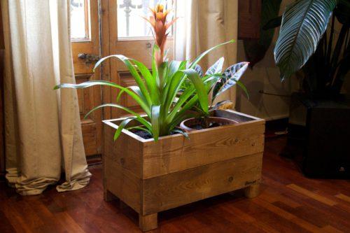 Jardineras con palets reciclados para tus - Jardineras con palets ...