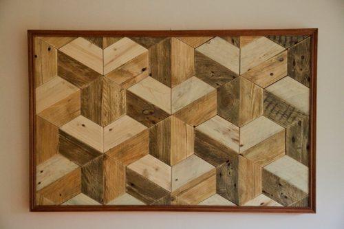 Muebles de palets reciclados hechos con mucho cari o - Cuadros hechos con palets ...