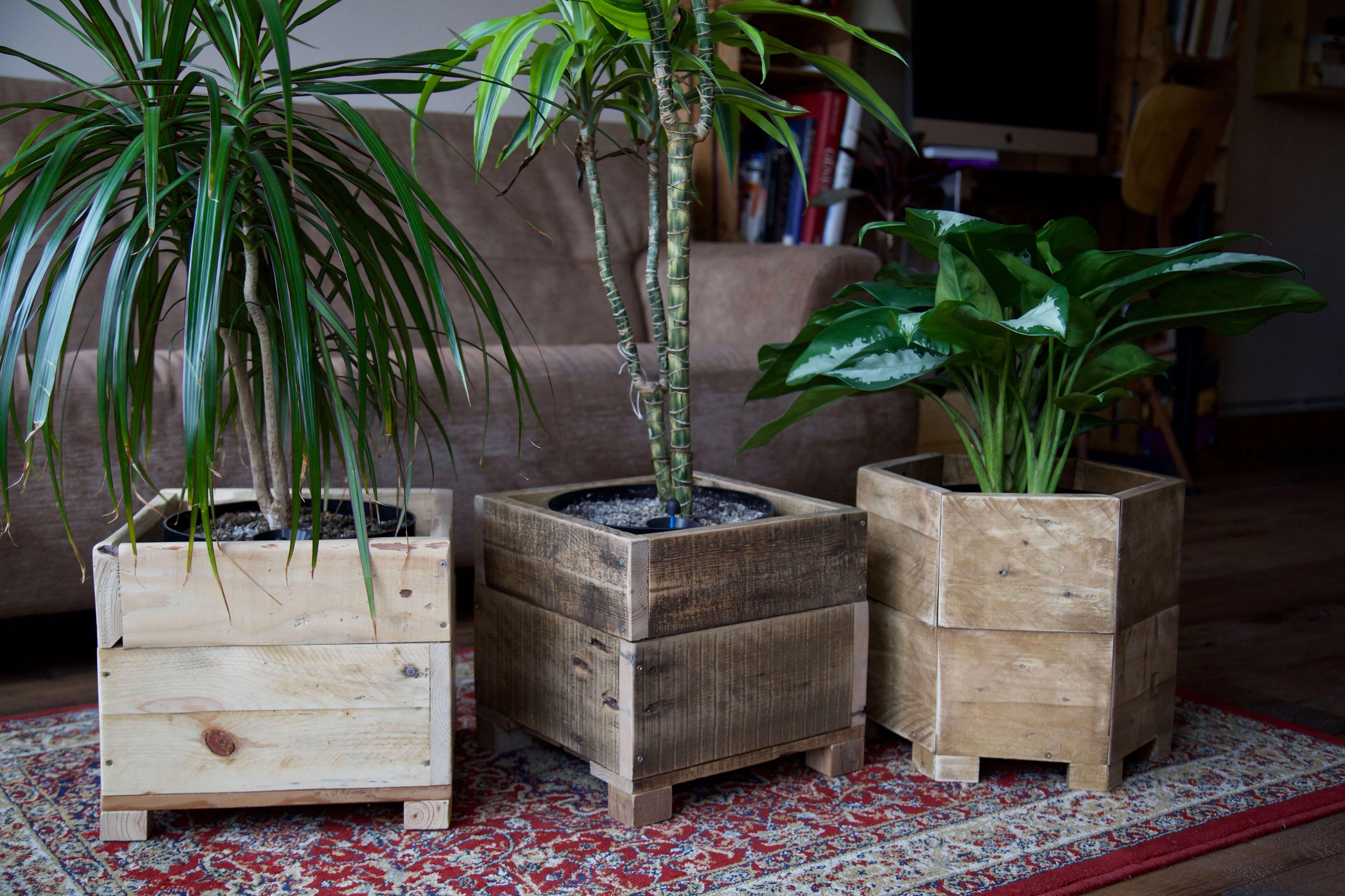Jardinera xavier paletos - Jardineras de madera caseras ...