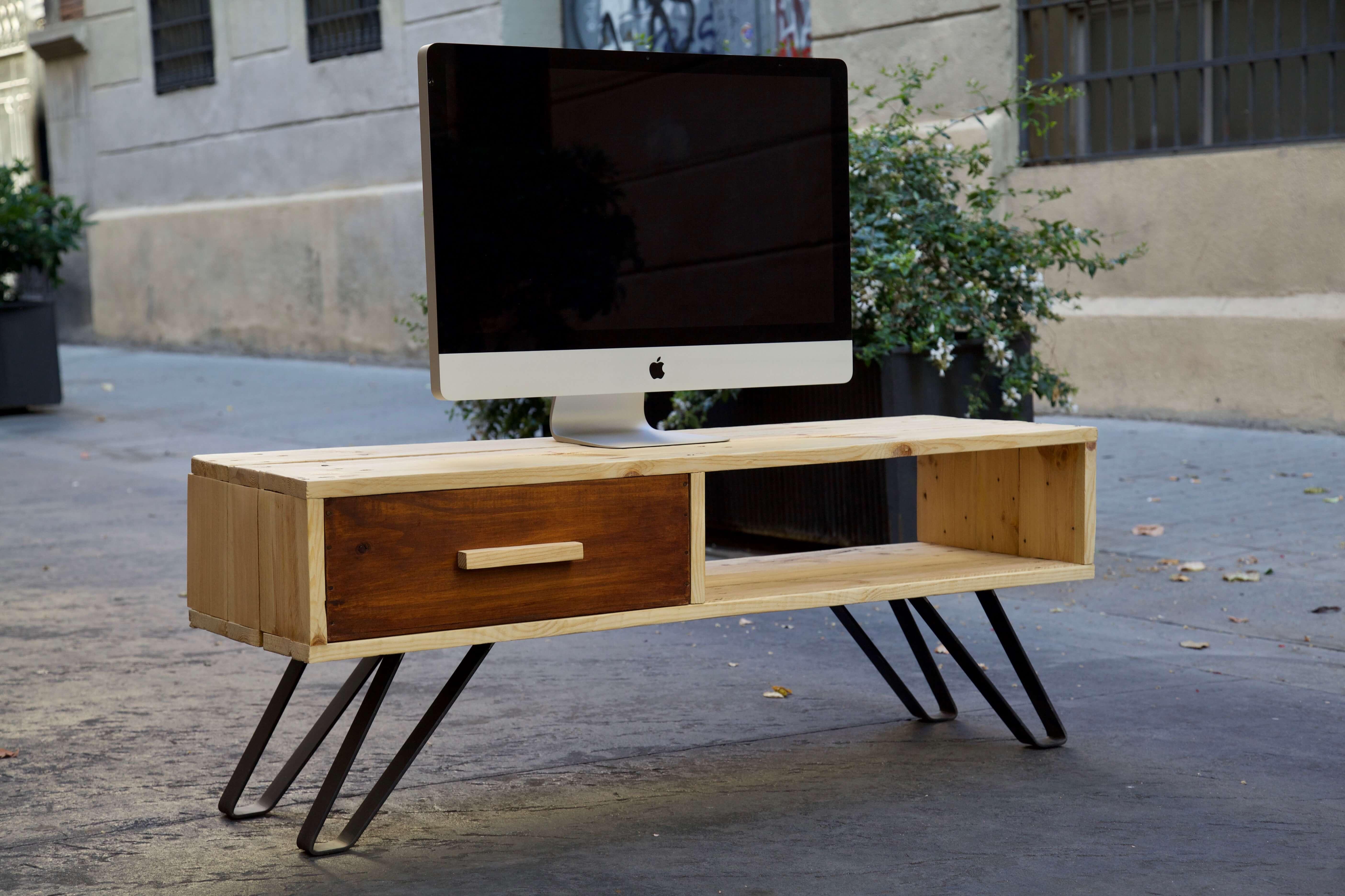 Mueble de tv ethan paletos - Palets muebles reciclados ...
