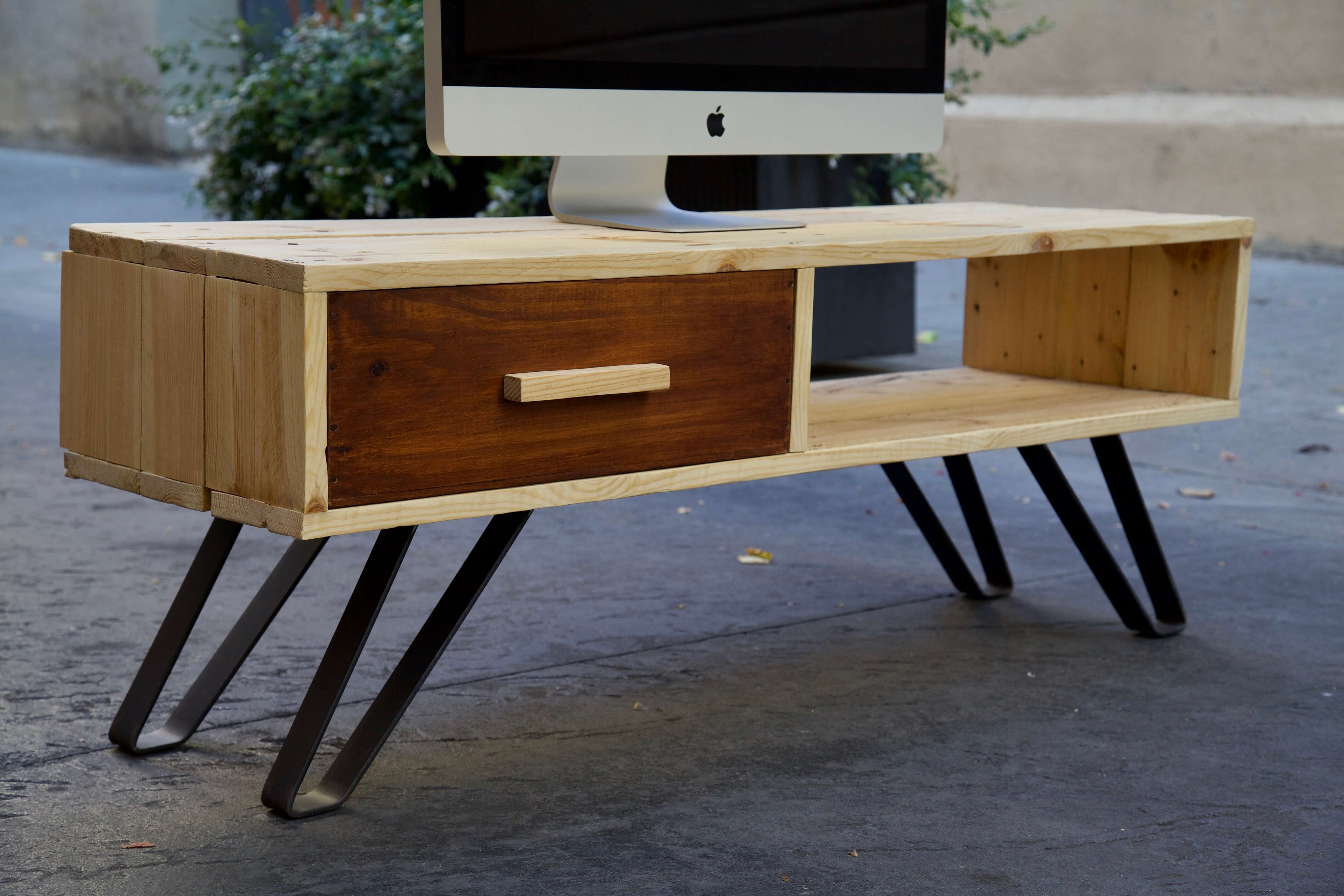 Mueble de tv ethan paletos - Palets para muebles ...
