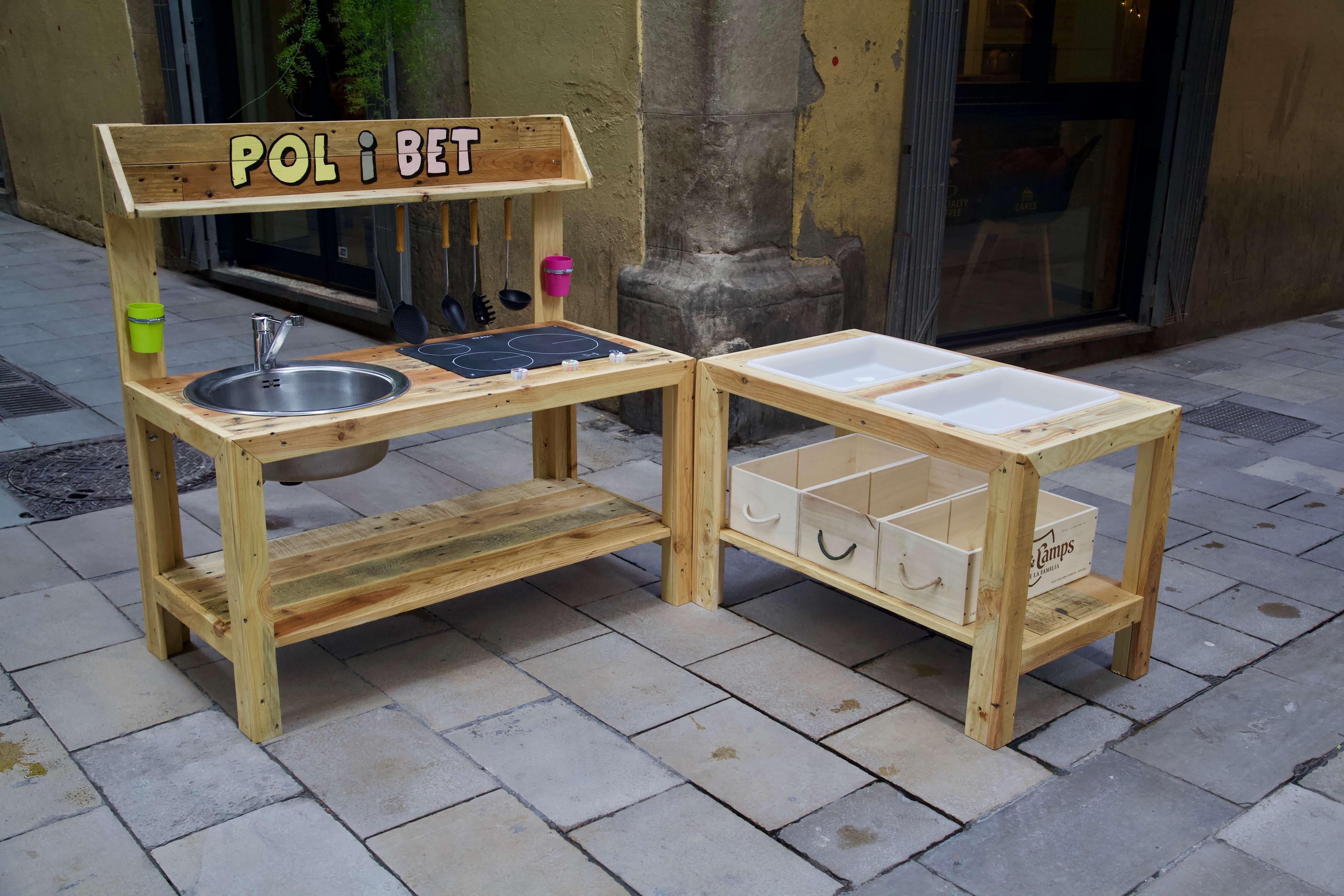 Cocina de juguete con palets pol paletos - Comprar muebles palets ...
