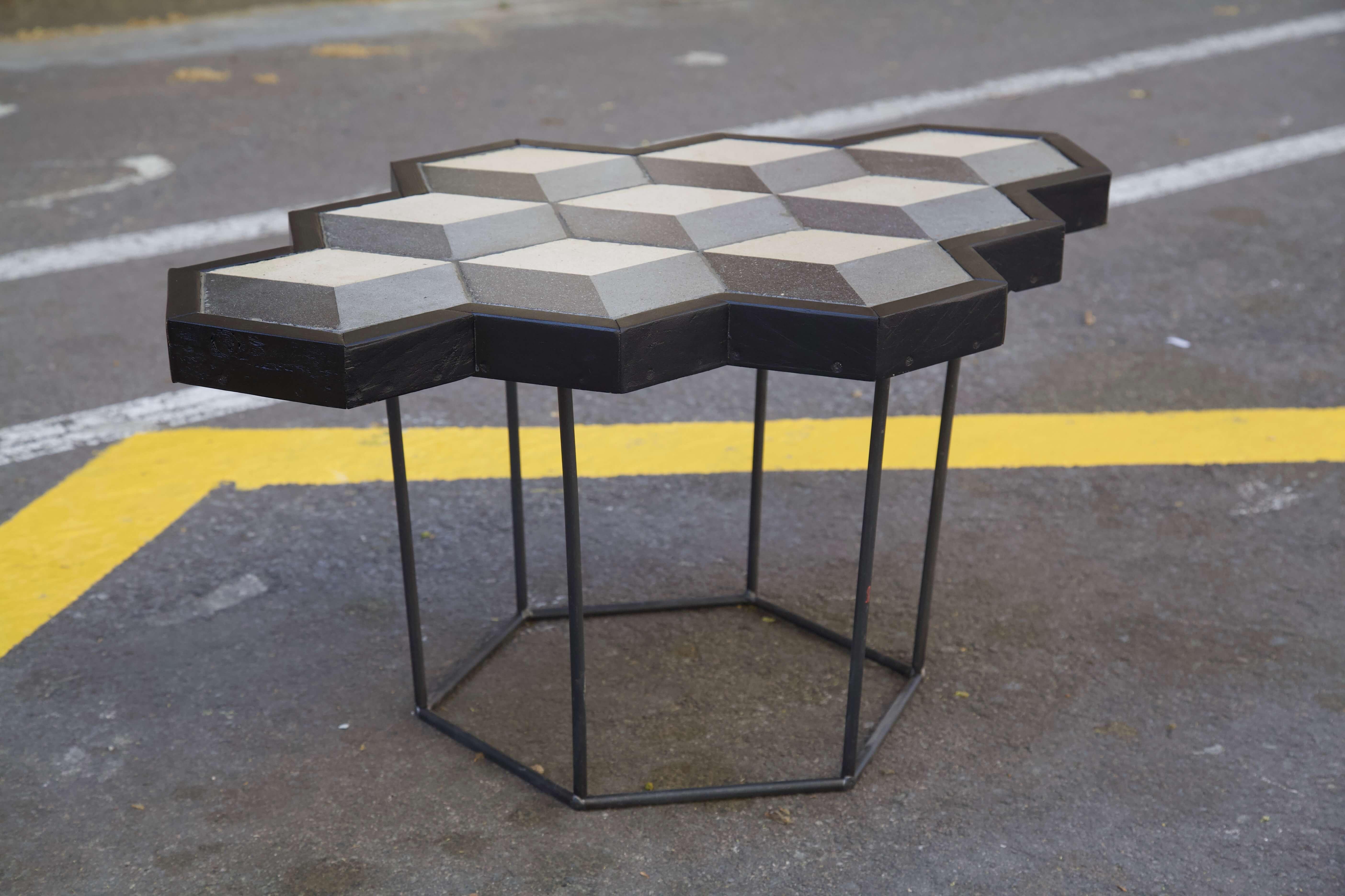 detalle horizontal mesa hecha con racholas