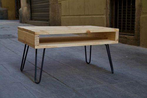 detalle inferior izquierda de la mesa hecha con palets lexa