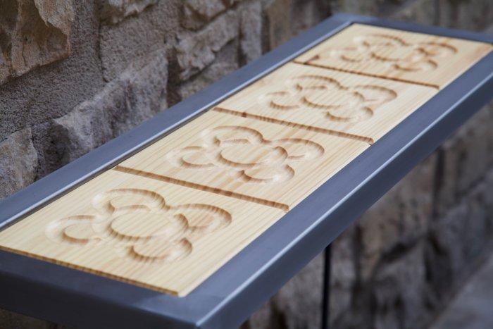 detalle de los panots del recibidor con panots flor de barcelona